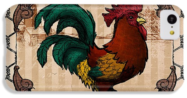 Folk Art iPhone 5c Case - Rooster I by April Moen