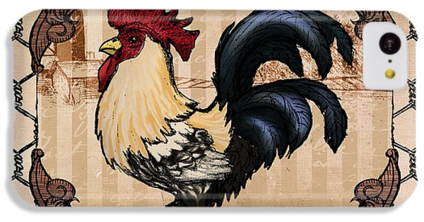 Folk Art iPhone 5c Case - Rooster II by April Moen