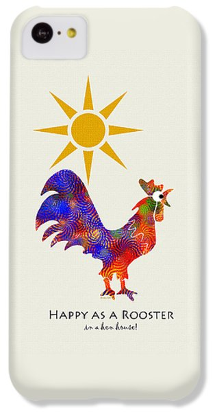 Rooster Pattern Art IPhone 5c Case by Christina Rollo