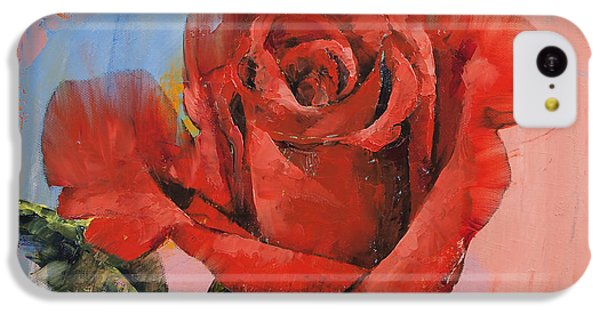 Rose Painting IPhone 5c Case by Michael Creese