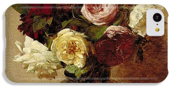 Roses IPhone 5c Case by Ignace Henri Jean Fantin-Latour