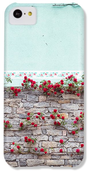 Roses On A Wall IPhone 5c Case by Silvia Ganora