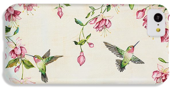 Humming Bird iPhone 5c Case - Rubys Among The Fuchsias by Jean Plout