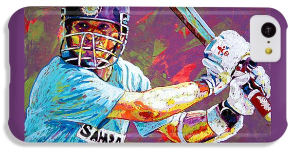 Sachin Tendulkar IPhone 5c Case by Maria Arango