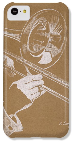 Sacred Trombone IPhone 5c Case by Karen  Loughridge KLArt