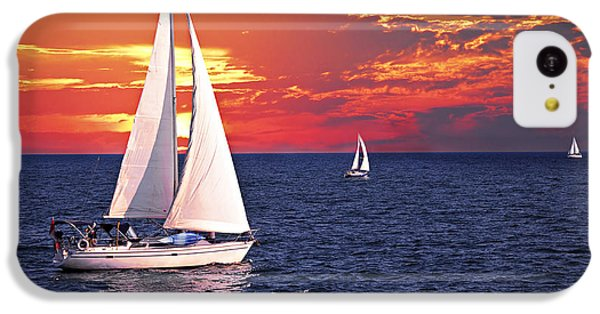 Sailboats At Sunset IPhone 5c Case