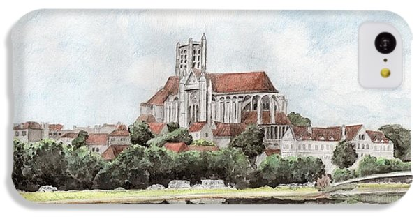 IPhone 5c Case featuring the painting Saint-etienne A Auxerre by Marc Philippe Joly