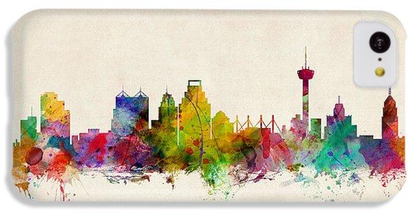 San Antonio Texas Skyline IPhone 5c Case by Michael Tompsett