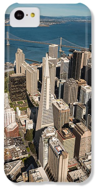 Helicopter iPhone 5c Case - San Francisco Aloft by Steve Gadomski