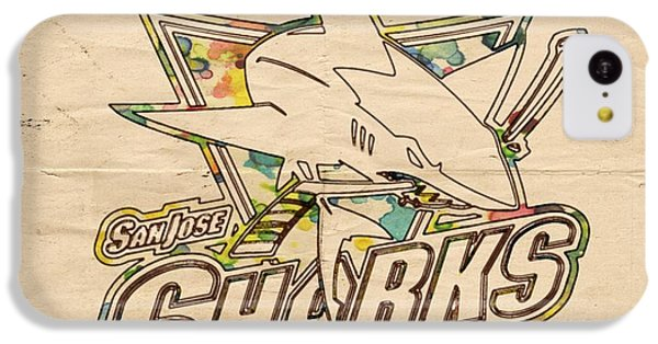 Sharks iPhone 5c Case - San Jose Sharks Vintage Poster by Florian Rodarte