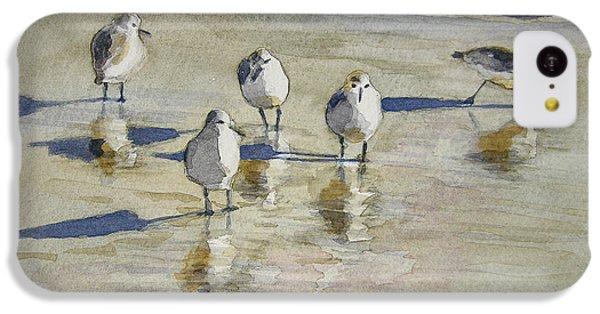 Sandpipers 2 Watercolor 5-13-12 Julianne Felton IPhone 5c Case