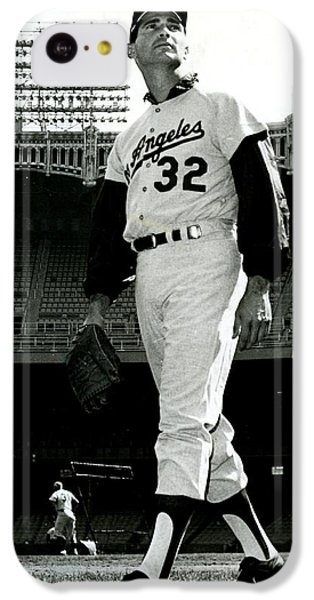 Sandy Koufax Vintage Baseball Poster IPhone 5c Case