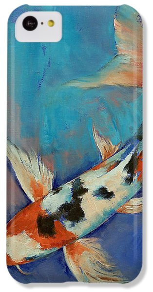 Sanke Butterfly Koi IPhone 5c Case by Michael Creese