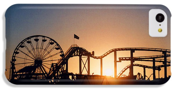 Santa Monica Pier IPhone 5c Case by Art Block Collections