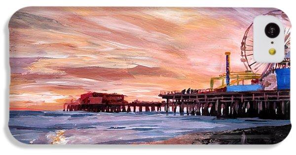 Santa Monica iPhone 5c Case - Santa Monica Pier At Sunset by M Bleichner