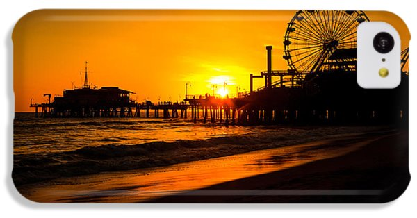 Santa Monica Pier California Sunset Photo IPhone 5c Case by Paul Velgos