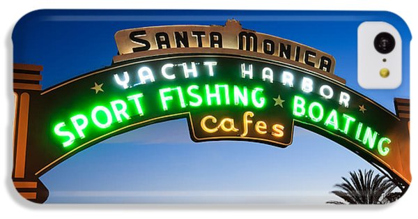 Santa Monica Pier Sign IPhone 5c Case by Paul Velgos