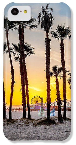 Santa Monica Sunset 2 IPhone 5c Case by Az Jackson