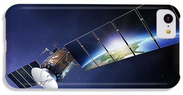 Navigation iPhone 5c Case - Satellite Communications With Earth by Johan Swanepoel
