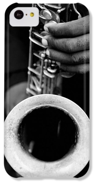 IPhone 5c Case featuring the photograph Sax Player by Dave Beckerman
