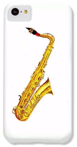 Saxophone iPhone 5c Case - Saxophone by Michael Vigliotti