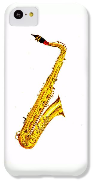 Saxophone IPhone 5c Case by Michael Vigliotti