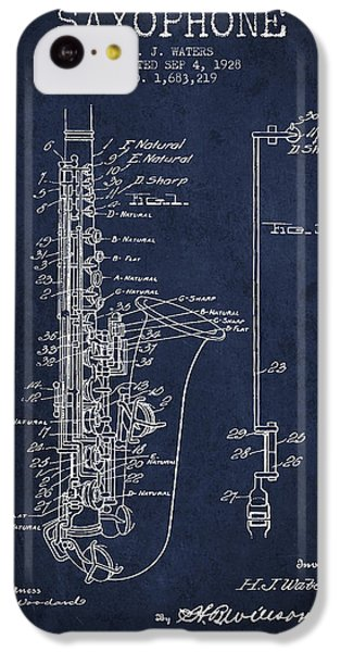 Saxophone Patent Drawing From 1928 IPhone 5c Case by Aged Pixel
