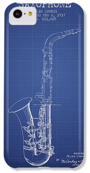 Saxophone Patent From 1937 - Blueprint IPhone 5c Case by Aged Pixel