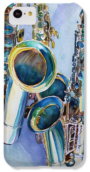 Saxophone iPhone 5c Case - Saxy Trio by Jenny Armitage