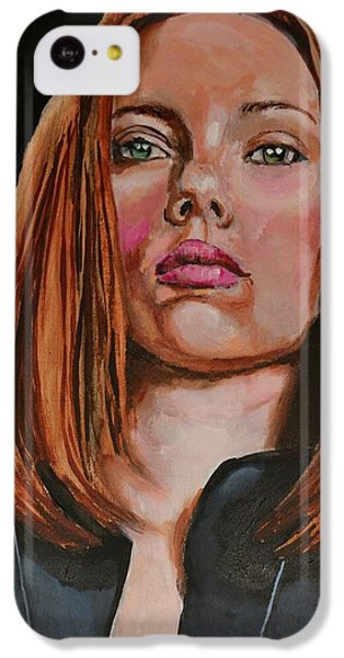 Scarlett Johansson iPhone 5c Case - Scarlett Johansson / Black Widow by Dwain Morris