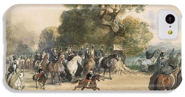 Scene In Hyde Park IPhone 5c Case by Eugene-Louis Lami