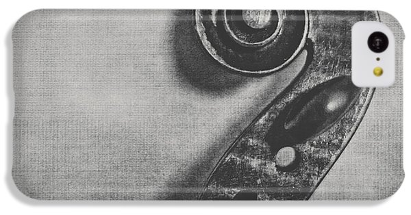 Violin iPhone 5c Case - Scroll In Black And White by Emily Kay