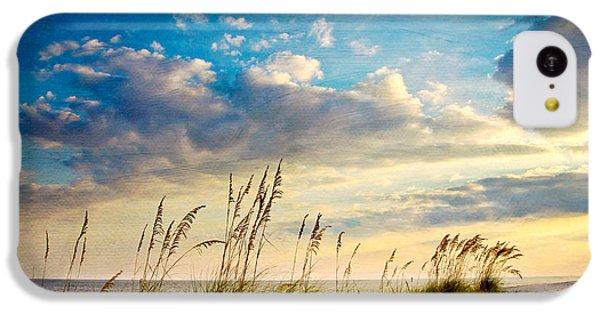 Beach iPhone 5c Case - Sea Oats Sunset by Joan McCool