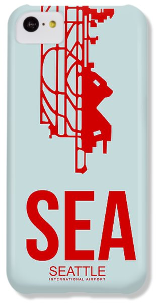 Seattle iPhone 5c Case - Sea Seattle Airport Poster 1 by Naxart Studio