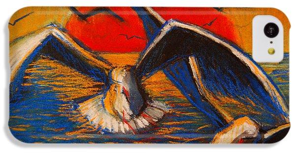Seagulls At Sunset IPhone 5c Case by Mona Edulesco