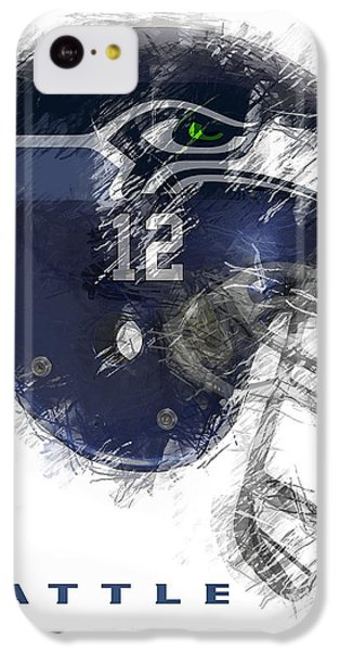 Seattle iPhone 5c Case - Seahawks 12 by Daniel Hagerman