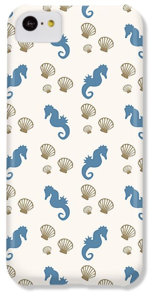 Seahorse And Shells Pattern IPhone 5c Case