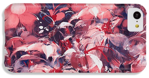 Floral iPhone 5c Case - Seamless Abstract Flowers,oil Painting by Tithi Luadthong
