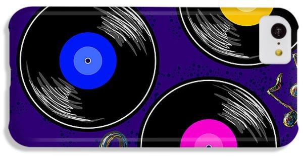 Sound iPhone 5c Case - Seamless Music Pattern With Vinyl by Artskvortsova
