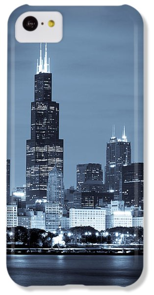 Sears Tower In Blue IPhone 5c Case by Sebastian Musial