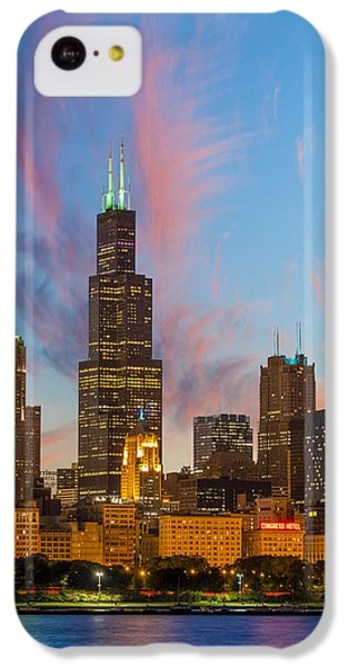 IPhone 5c Case featuring the photograph Sears Tower Sunset by Sebastian Musial