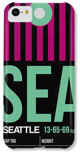Seattle iPhone 5c Case - Seattle Airport Poster 4 by Naxart Studio