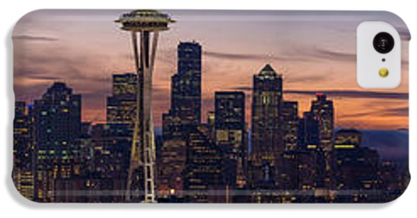 Seattle Cityscape Morning Light IPhone 5c Case by Mike Reid