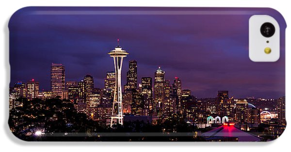 Seattle Night IPhone 5c Case by Chad Dutson