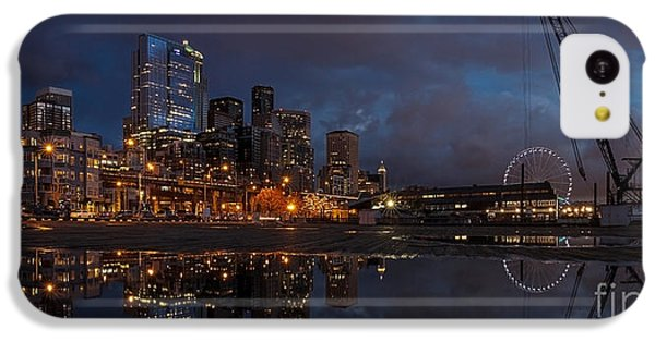 Seattle Night Skyline IPhone 5c Case by Mike Reid