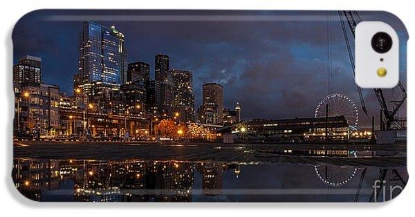 Seattle Night Skyline IPhone 5c Case by Mike Reid