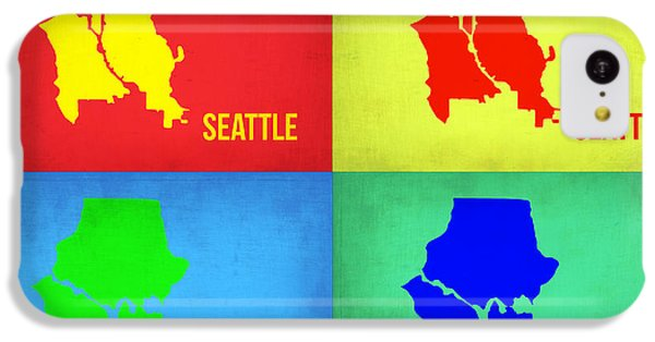 Seattle iPhone 5c Case - Seattle Pop Art Map 1 by Naxart Studio