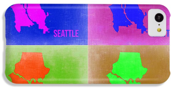 Seattle iPhone 5c Case - Seattle Pop Art Map 2 by Naxart Studio