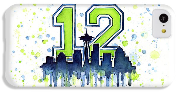 Seattle Seahawks 12th Man Art IPhone 5c Case