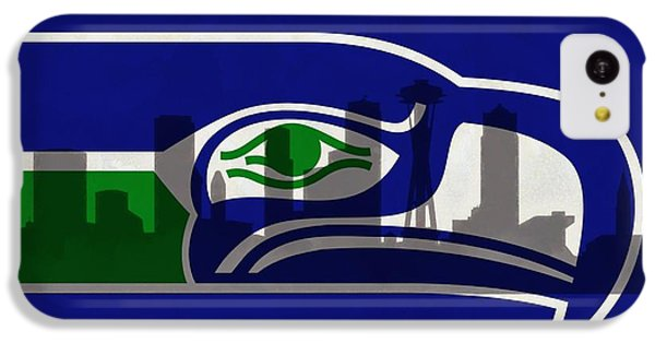 Seattle Seahawks On Seattle Skyline IPhone 5c Case
